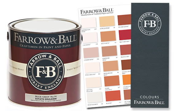 Farrow & Ball Farbkarte